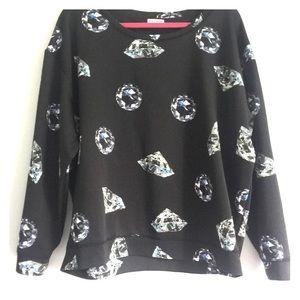 Juicy Couture XL Black Blue Fashion SweatShirt